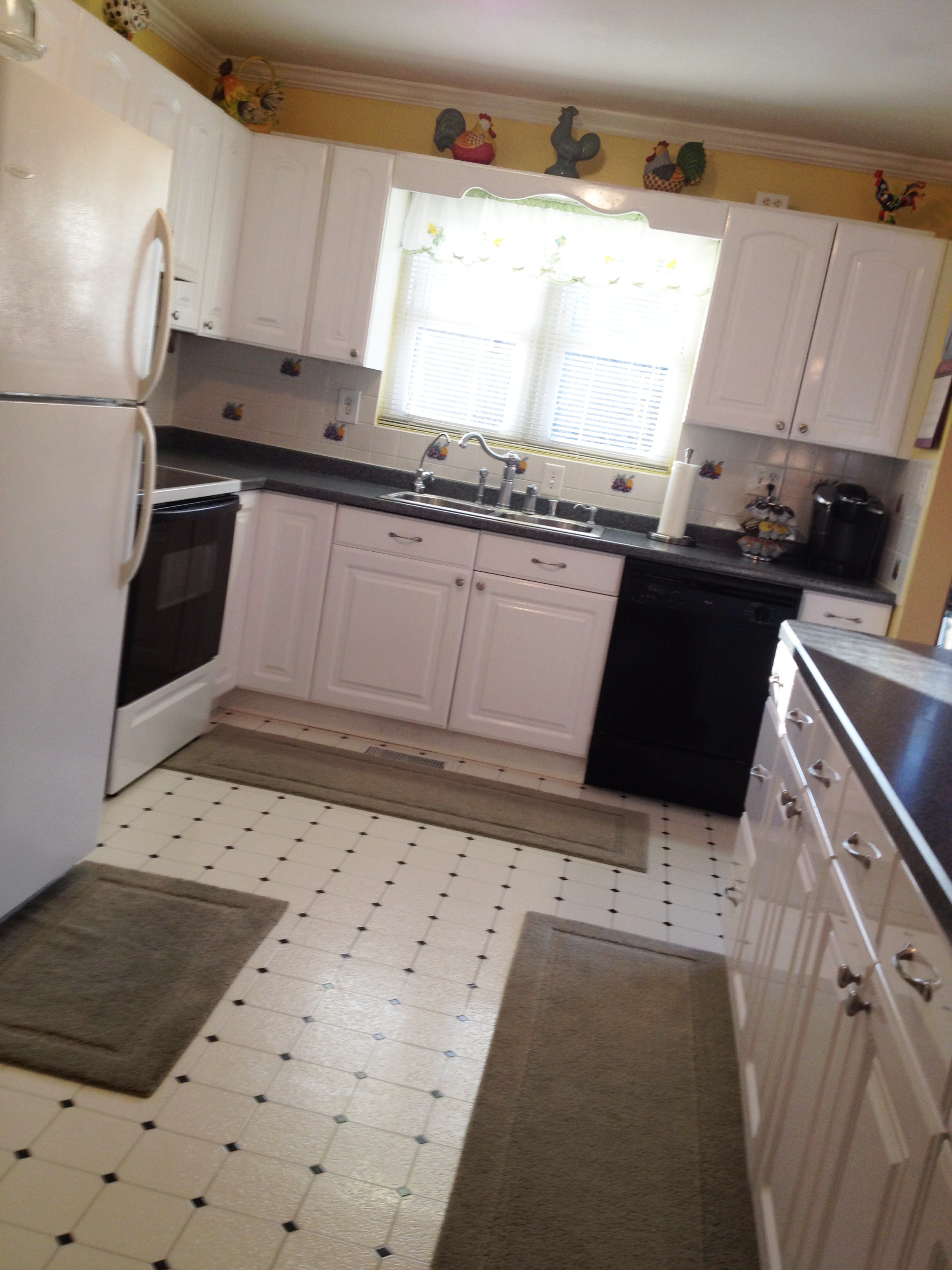 Painting Linoleum Kitchen Floor New Paint Hardwood Floors
